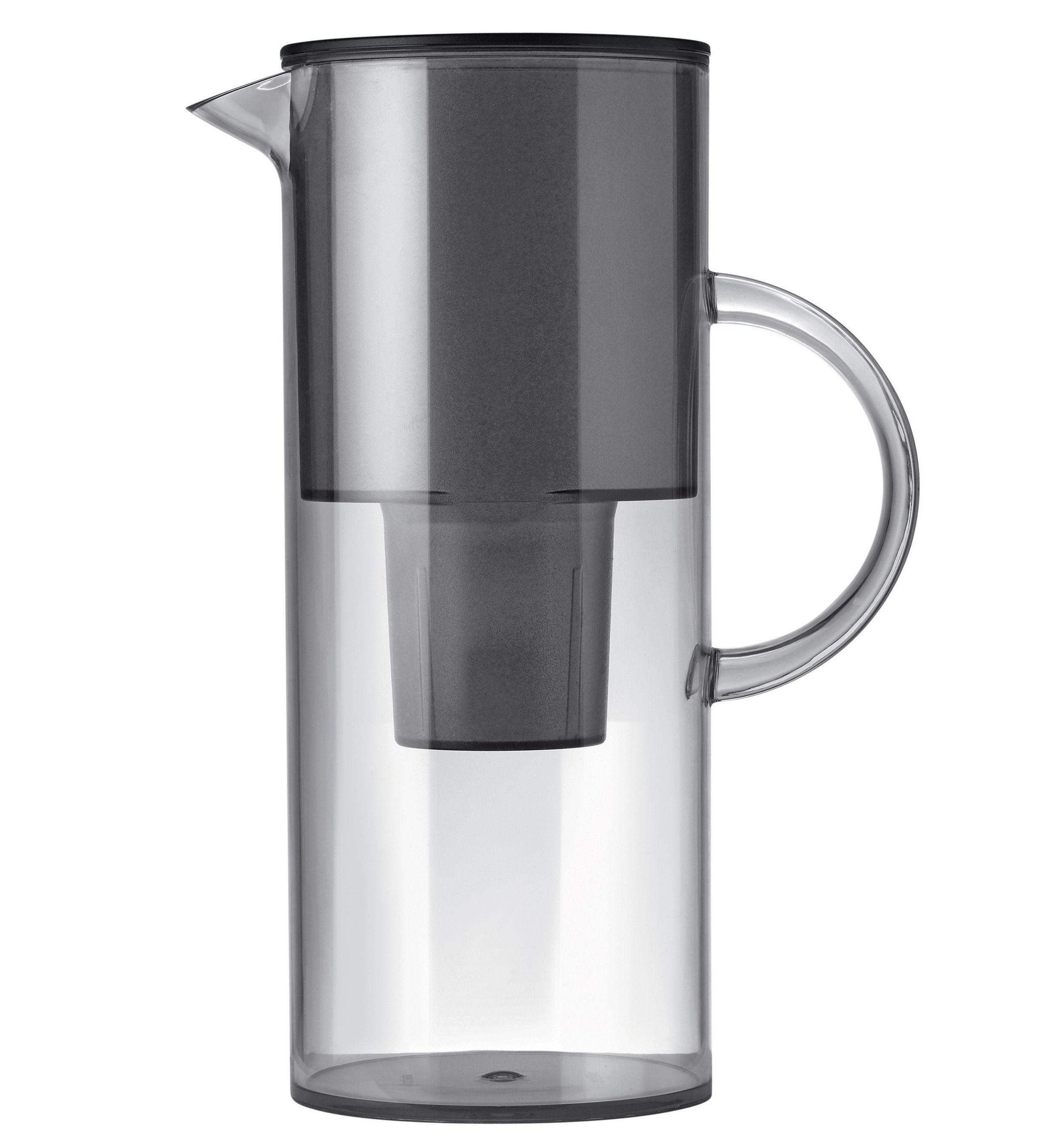 Tischkultur - Karaffen - Classic Tischwasserfilter / 2 Liter - Stelton - Rauchglas - Plastique alimentaire
