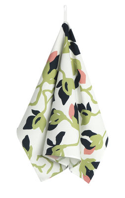 Torchon Mielitty / 47 x 70 cm - Marimekko blanc,rose,vert,bleu foncé en tissu