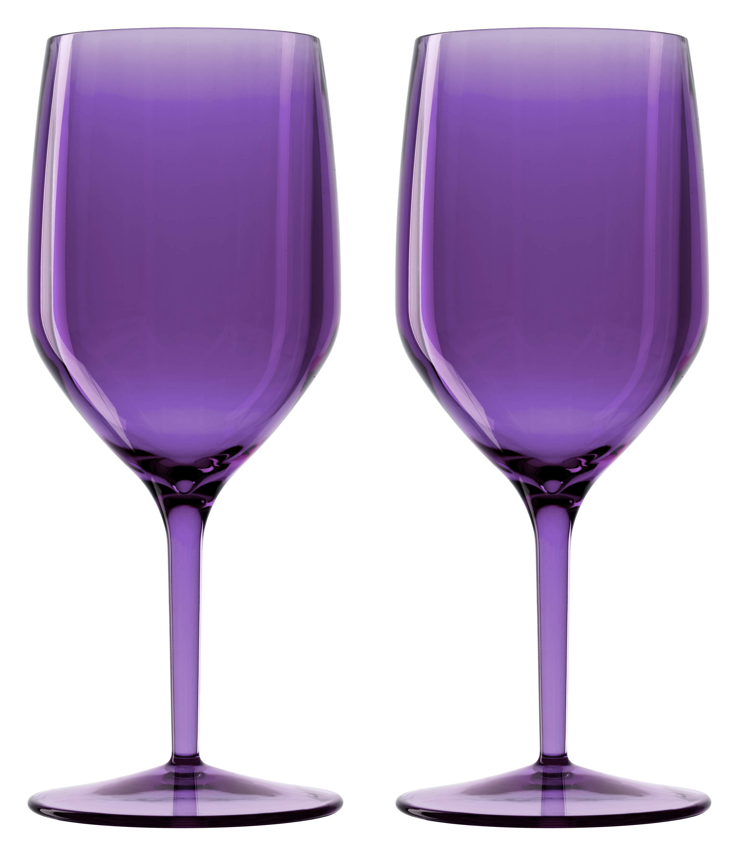 Arts de la table - Verres  - Verre à vin Vertical Beach / 33 cl - Lot de 6 verres dont 1 offert - Italesse - Violet - Policrystal