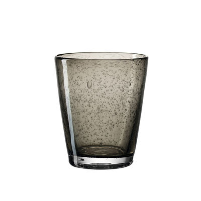 Arts de la table - Verres  - Verre Burano / Bullé - 330 ml - Leonardo - Anthracite - Verre bullé soufflé bouche