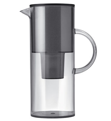 Tableware - Water Carafes & Wine Decanters - Classic Water filter jug - With filter by Stelton - Smoke grey - Alimentary plastic