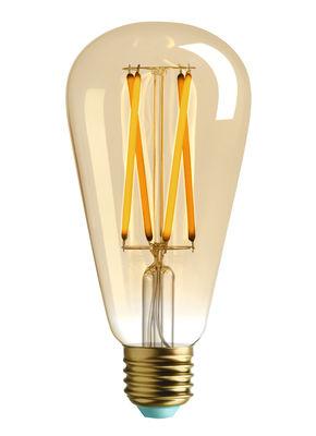 Ampoule LED filaments E27 Willis / 4.5W (29W) - 315 Lumen - Plumen doré en verre