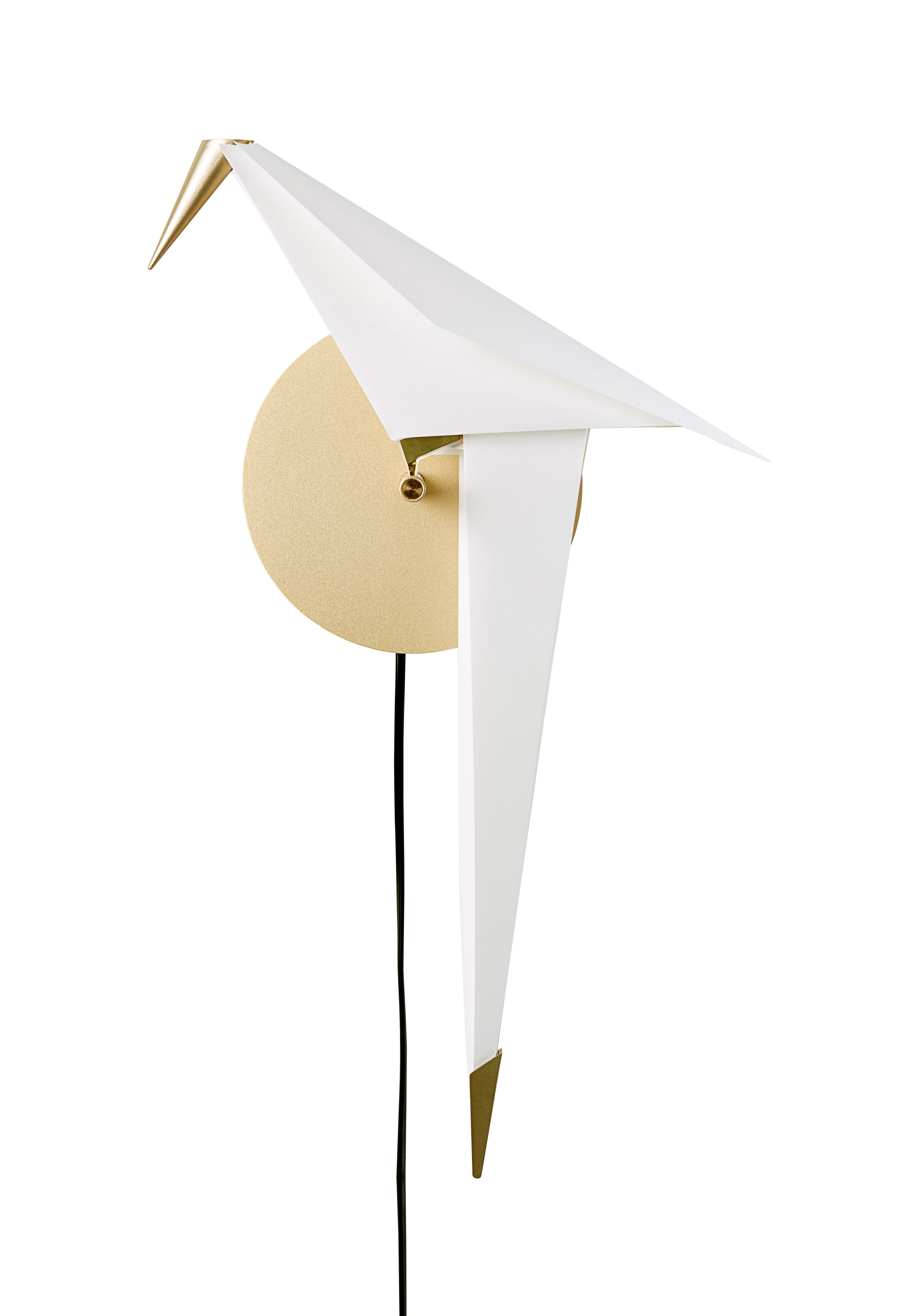 applique avec prise perch light small moooi small 25 cm blanc laiton l 25 x h 41. Black Bedroom Furniture Sets. Home Design Ideas