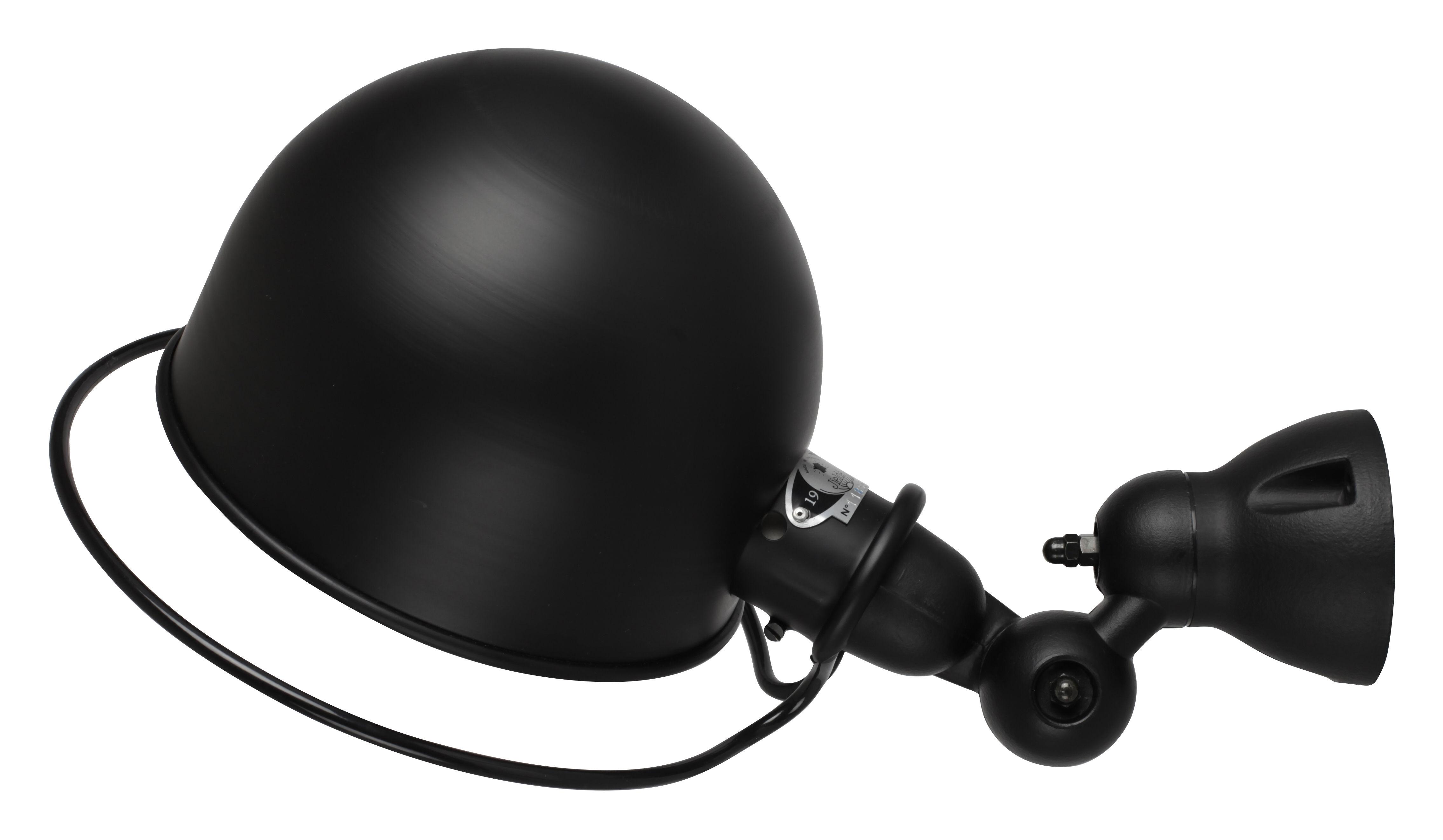 Luminaire - Appliques - Applique Loft Ø 20 cm - Jieldé - Noir mat - Acier inoxydable, Porcelaine