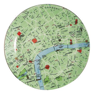 Arts de la table - Assiettes - Assiette The World Dinnerware Londres - Ø 26,5 cm - Seletti - Vert, bleu & rouge - Porcelaine