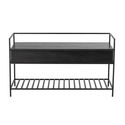 Möbel - Bänke - Abelone Bank / Konsole - L 102 cm / integrierter Kasten - Bloomingville - Schwarz - Eisen, Mangobaum