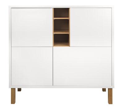 Image of Credenza Niche / Alta - L 128 x H 127 cm - POP UP HOME - Bianco,Rovere - Legno