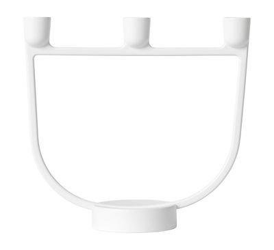 Interni - Candele, Portacandele, Lampade - Candelabro Open / Metallo - Muuto - Bianco - Lega di alluminio laccato