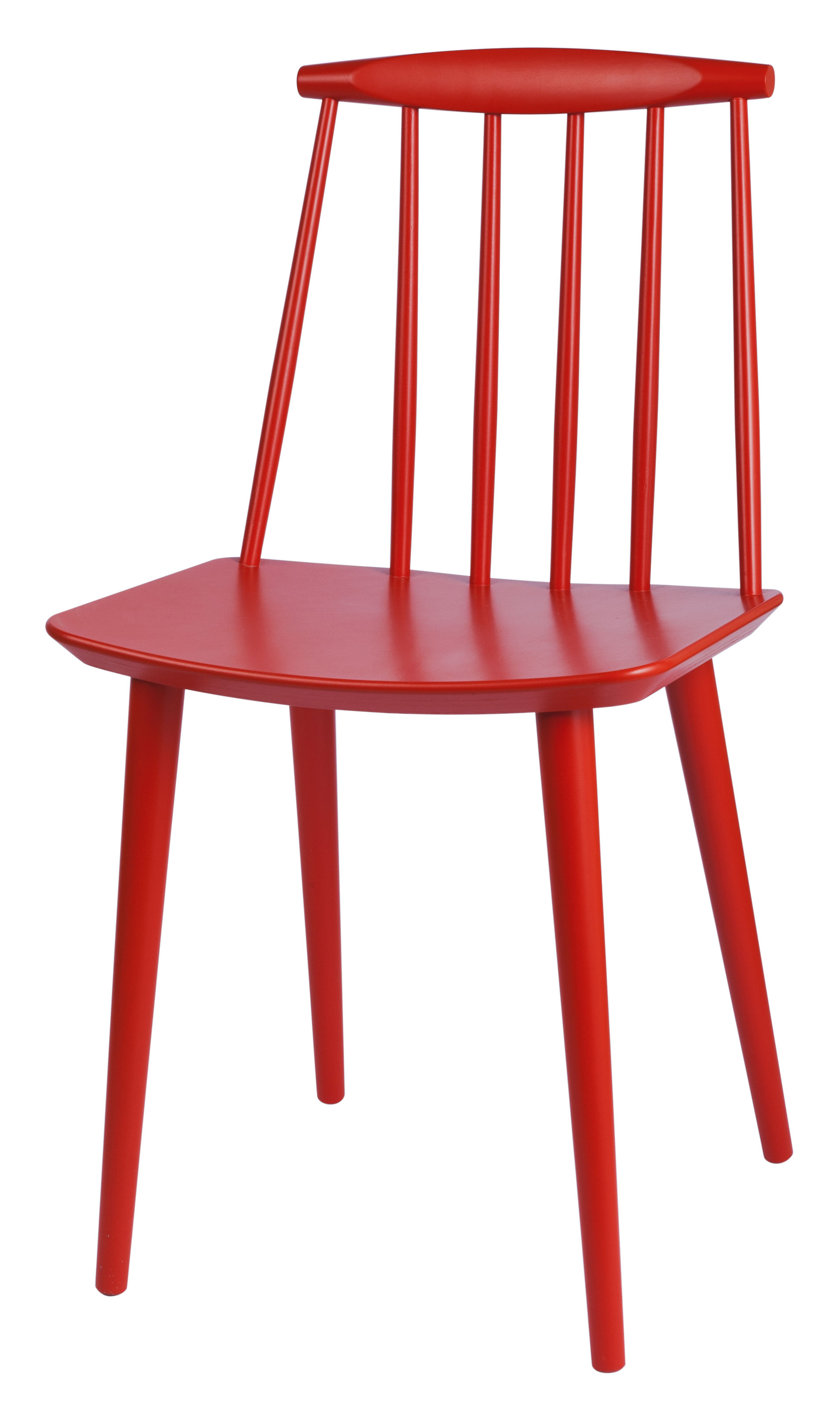 Mobilier - Chaises, fauteuils de salle à manger - Chaise J77 / Bois - Hay - Corail - Hêtre massif teinté