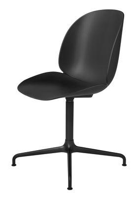 Chaise pivotante Beetle / Gamfratesi - Gubi noir en métal