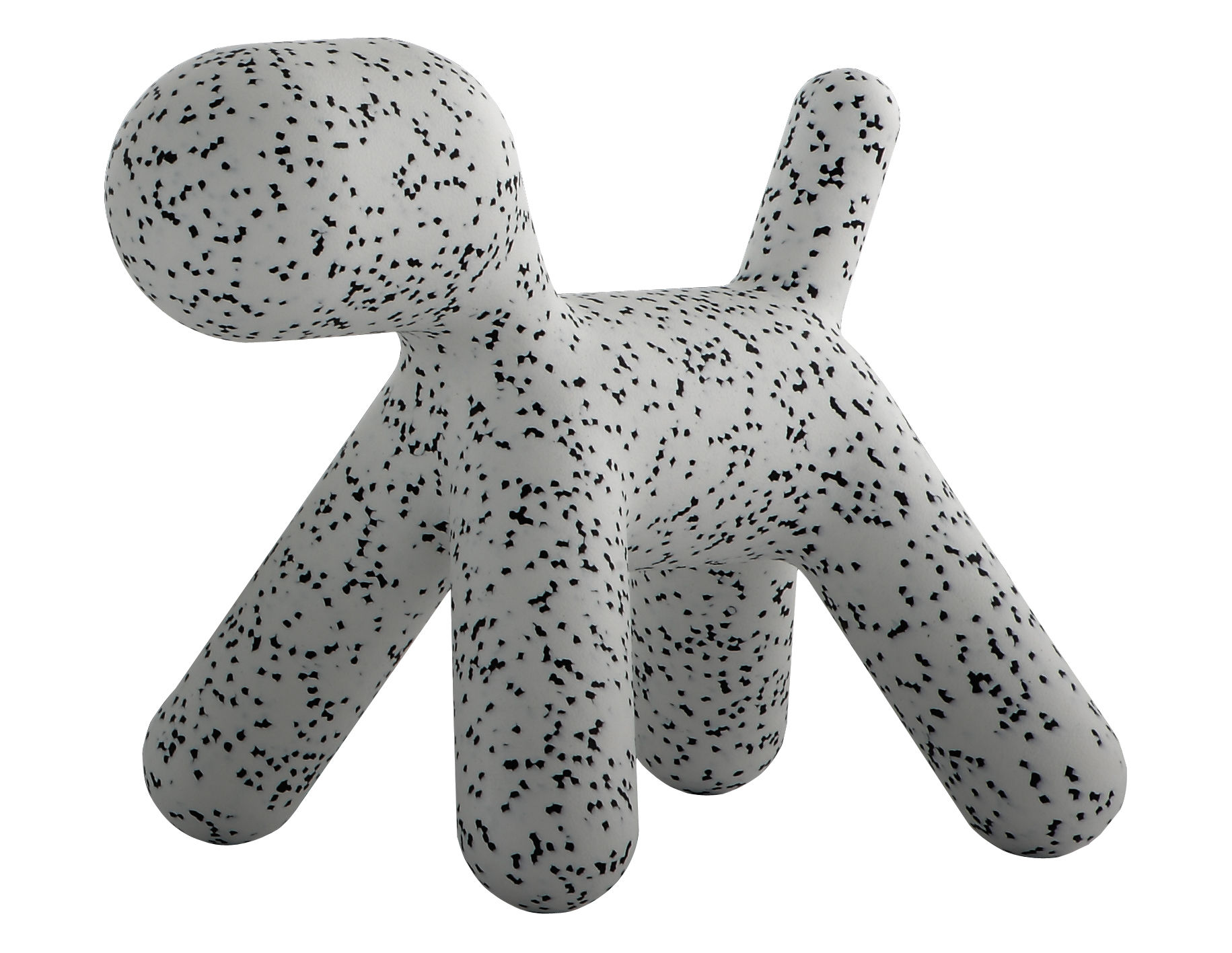 Furniture - Kids Furniture - Puppy Medium Children's chair - / Medium - L 56 cm by Magis Collection Me Too - White / Black mottled - roto-moulded polyhene