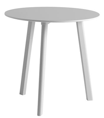 Furniture - Dining Tables - Copenhague CPH Deux 220 Round table - Ø 75 cm by Hay - Light grey - Laminate, Painted beech, Stratified