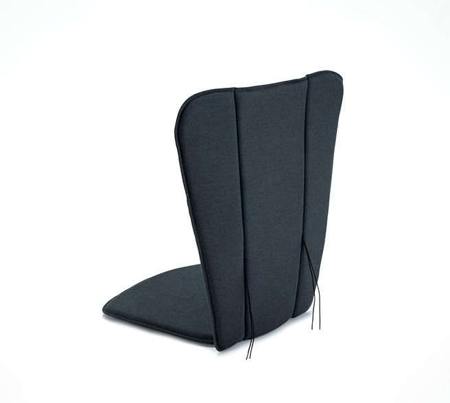 Interni - Oggetti déco - Cuscino per seduta - / Per poltrona bassa & sedia a dondolo Paon di Houe - Grigio carbone - Schiuma di poliuretano, Tessuto poliestere