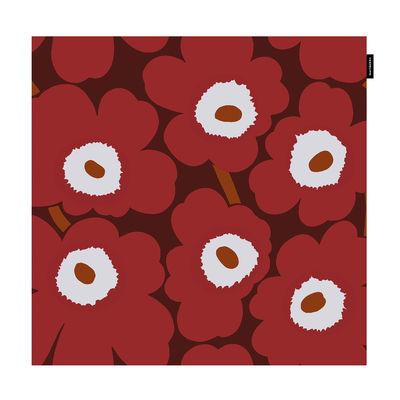 Decoration - Cushions & Poufs - Pieni Unikko Cushion cover - / 50 x 50 cm by Marimekko - Pieni Unikko / Red - Cotton
