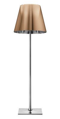 Lighting - Floor lamps - K Tribe F3 Floor lamp - H 183 cm by Flos - Metallic bronze - PMMA, Polished aluminium