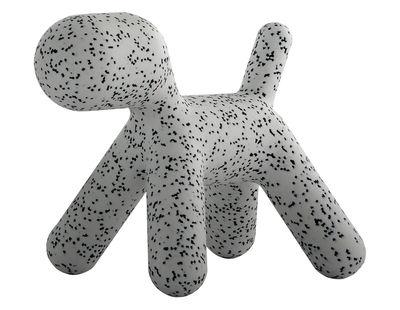 Möbel - Möbel für Kinder - Puppy Medium Kinderstuhl / Medium - L 56 cm - Magis Collection Me Too - Weiß / mit schwarzen Flecken - rotationsgeformtes Polyäthylen