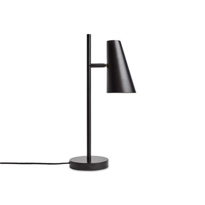 Illuminazione - Lampade da tavolo - Lampada da tavolo Cono - / Orientabile di Woud - Nero - metallo verniciato