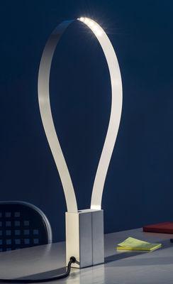 Illuminazione - Lampade da tavolo - Lampada da tavolo Fluida - / Striscia LED flessibile di Martinelli Luce - Bianco - Metallo