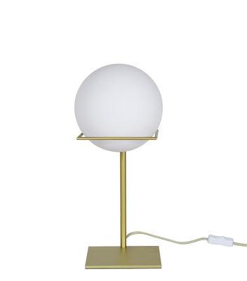 Lampada da tavolo Gin - / Vetro & metallo di ENOstudio - Bianco,Oro - Metallo
