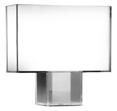 Illuminazione - Lampade da tavolo - Lampada da tavolo Tati di Kartell - Bianco - Acciaio cromato, policarbonato
