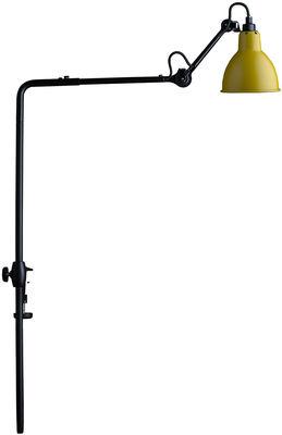 Lampe N°226 pour bibliothèque / Base étau - Lampe Gras - DCW éditions jaune,noir en métal