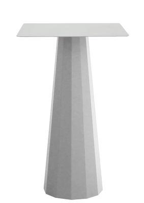 Mange-debout Ankara / 70x70 x H 110 cm - Matière Grise gris alu en métal