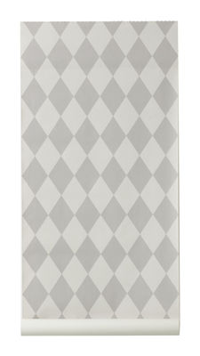 Papier peint Harlequin / 1 rouleau - Larg 53 cm - Ferm Living gris,gris clair en tissu