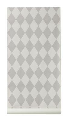 Papier peint Harlequin / 1 rouleau - Larg 53 cm - Ferm Living gris en tissu