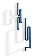 Patère Zag Set de 2 Acier La Chance bleu en métal