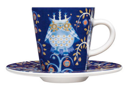Tavola - Tazze e Boccali - Piattino sottotazza - Per tazza da caffé Taika di Iittala - Piattino - Fondo blu - Ceramica