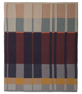 Plaid Medley Knit / 160 x 120 cm - Coton - Ferm Living multicolore en tissu