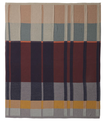 Decoration - Bedding & Bath Towels - Medley Knit Plaid - / 160 x 120 cm - Cotton by Ferm Living - Multicoloured - Cotton