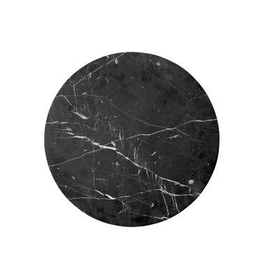 Plateau marbre / Pour table Androgyne - Menu noir en pierre