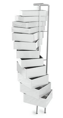 Arredamento - Raccoglitori - Portaoggetti da parete Spinny - Fissaggio murale di B-LINE - Bianco - ABS, Acciaio verniciato