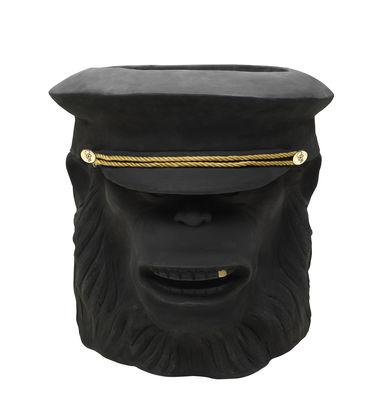 Pot de fleurs Monkey Face / Outdoor - H 40 cm - Garden Glory noir en céramique