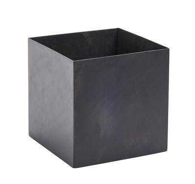 Déco - Pots et plantes - Pot Iron / 20 x 20 cm - Métal - Serax - Noir - Métal laqué