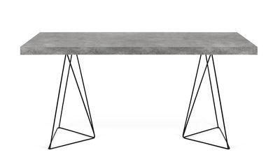 Bevorzugt rechteckiger Tisch Trestle von POP UP HOME - Grau/Schwarz   Made NU47