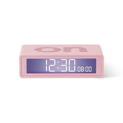 Accessoires - Réveils et radios - Réveil LCD Flip + Travel / Mini réveil réversible de voyage - Lexon - Rose - ABS, Gomme