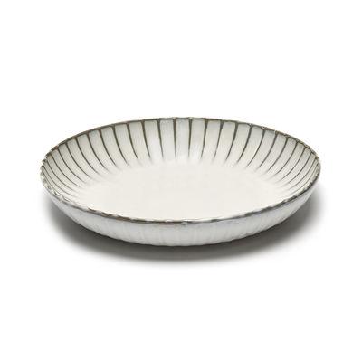 Tableware - Serving Plates - Inku Salad bowl - / Ø 27 x H 5 cm by Serax - Ø 27 cm / White - Enamelled sandstone