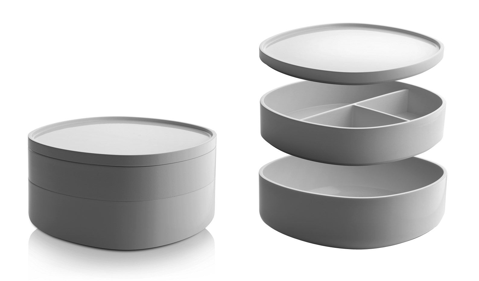 Scopri scatola birillo 2 scomparti antracite di alessi made in design italia - Accessori bagno alessi ...