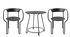 Set table & assises Huggy / Table Ø 75 cm + 2 fauteuils - Maiori