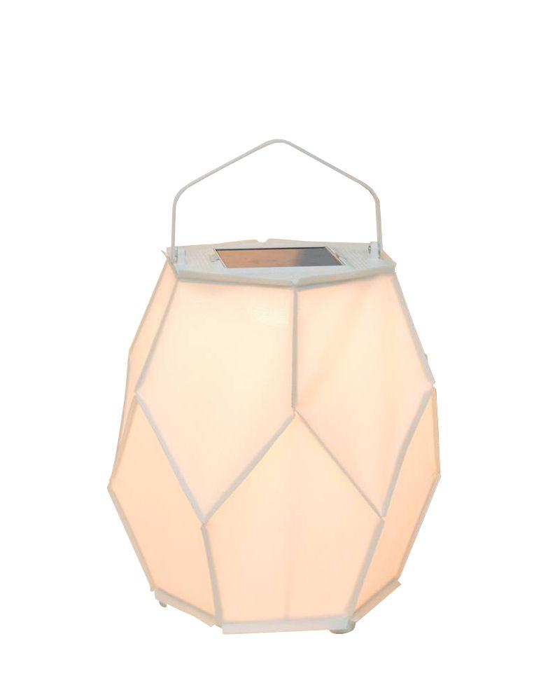 Lighting - Table Lamps - La Lampe Couture Medium Solar lamp - / Ø 42 x H 55 cm by Maiori - White - Aluminium, Batyline cloth