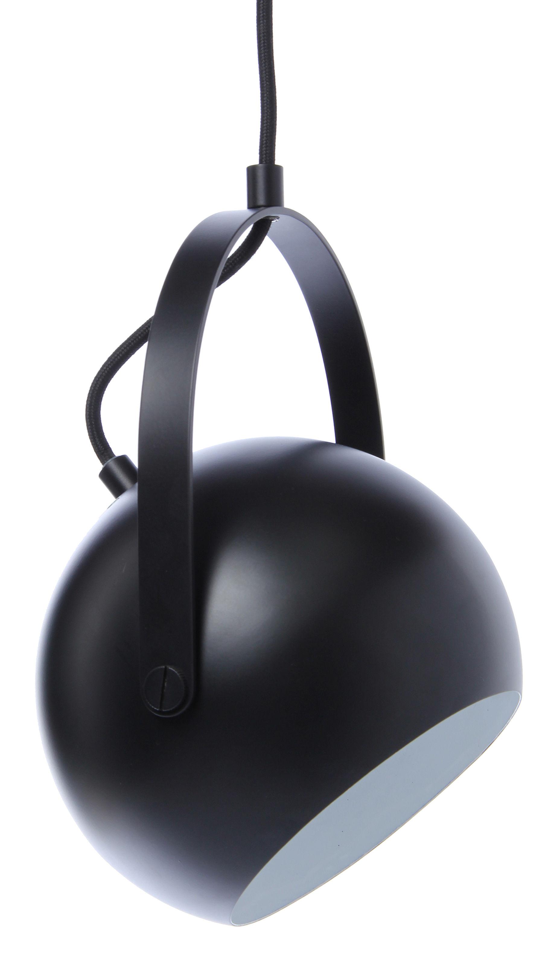 Luminaire - Suspensions - Suspension Ball avec arceau - Frandsen - Noir mat - Métal peint