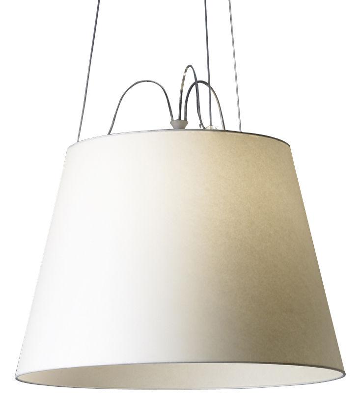 Luminaire - Suspensions - Suspension Tolomeo Mega / Ø 42 cm - Artemide - Ecru - Papier parchemin