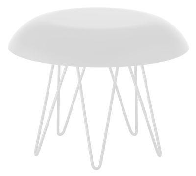 Table basse Meduse Ø 50 x H 37,5 cm - Casamania blanc en métal