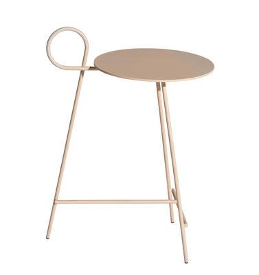 Mobilier - Tables basses - Table d'appoint Carmina / Ø 30 x H 57 cm - Driade - Nude - Acier, Aluminium époxy