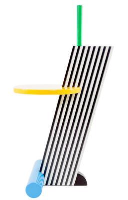 Table d'appoint Flamingo by Michele De Lucchi / 1984 - Memphis Milano multicolore en matière plastique/bois