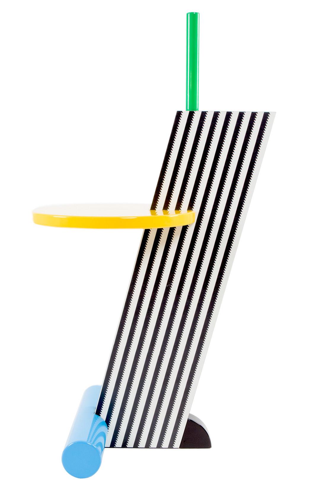 Mobilier - Tables basses - Table d'appoint Flamingo by Michele De Lucchi / 1984 - Memphis Milano - Multicolore - Bois laqué, Laminé plastique