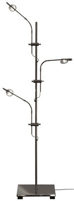 Lighting - Table Lamps - Wa Wa Table lamp - H 80 cm by Catellani & Smith - Silver - Nickel plated brass, Nickel plated metal