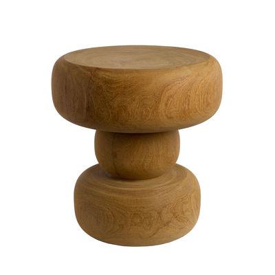 Arredamento - Sgabelli - Tavolino d'appoggio Between - / Legno scolpito a mano di Pols Potten - Legno naturale - Bois de Dimb massif